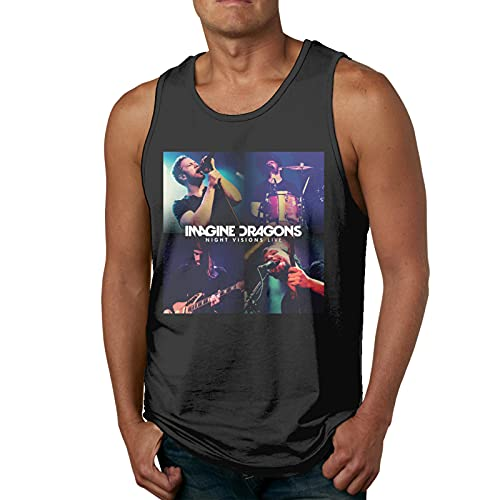 EDGHUOEIH Imagine The Dragons Night Visions - Camiseta deportiva para hombre, secado rápido, transpirable, para hombre