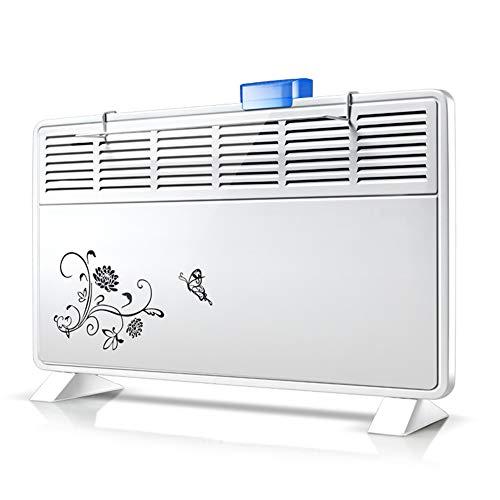 Electric Stove Heater Elektrische Heizung Konvektorheizung-Sicherheitsthermostat-Funktion Energiesparende Stille Wandmontage oder bodenstehender Badheizkörper (1000w/2000w)