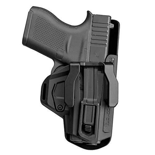 Deep Concealment IWB Holster Compatible with Glock 43 / Glock 43X for Every Day Concealed Carry (EDC) Appendix or Inside The Waistband (IWB/AIWB). Complete with Optional Claw.