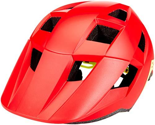 BELL Spark Junior Casco de Bicicleta para niños, Mate/Rojo Brillante/hi-Vis, Talla única