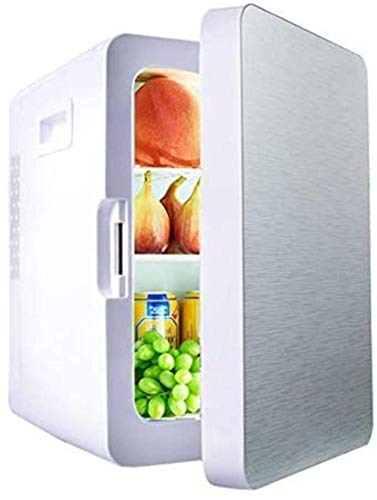 Mini nevera, refrigerador pequeño coche, 20L Mini refrigerador, hogar del coche Refrigerador - 4 estilos disponibles/CoolingWarming Función / 3-capa, gris 1yess (Color : Silver)