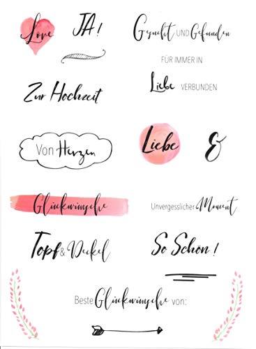 Hochzeits Sticker (Watercolors & Handlettering Design) | 133 Stück - 2
