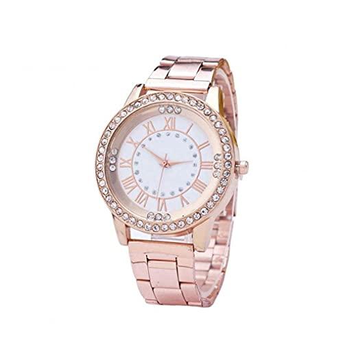 YepYes Reloj de señoras de Las Mujeres del Reloj de la dureza del Vidrio cristalino con Acero Inoxidable Reloj de Inicio de Accesorios