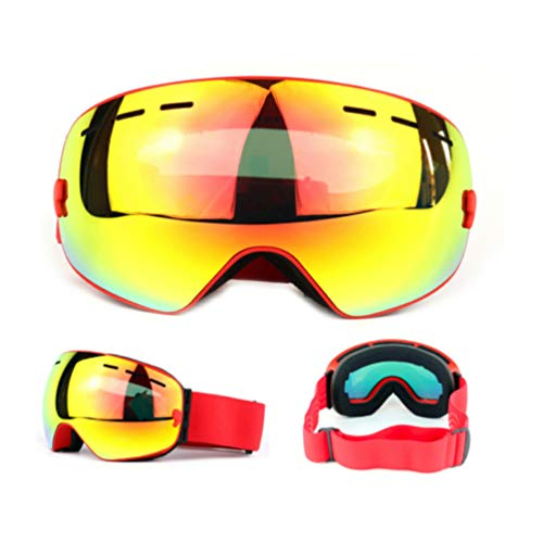 XGYUII Lunettes de Ski Ski Lunettes Snowboard Lunettes Anti-dérapant Bande Lunettes de Protection Sports de Neige Snowboard Lunettes pour Hommes Femmes,B