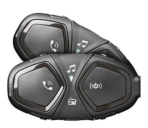 Interfono per Moto Bluetooth Nero Cellular Line Interphone Link Twin Pack INTERPHOLINKTP