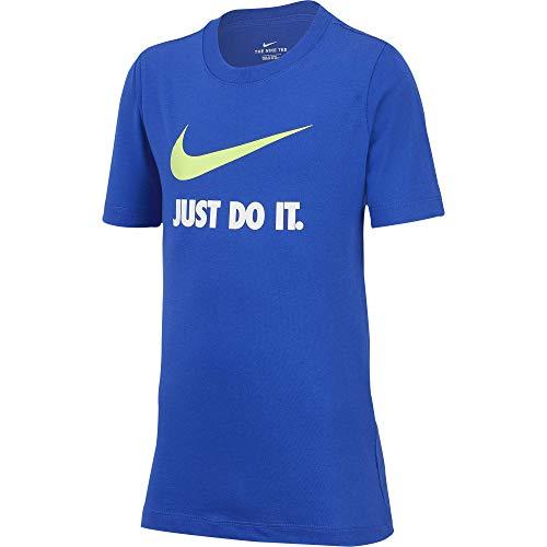 NIKE Sportwear JDI T-Shirt for Kids Camiseta de Manga Corta, Niños, Azul (Game Royal/Volt), XS (122-128 CM)