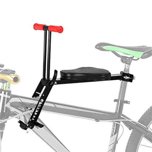 DGHJK Sillín de Asiento de bebé Delantero de Bicicleta con Pedales Pasamanos de portabicicletas Plegable para bebés y niños