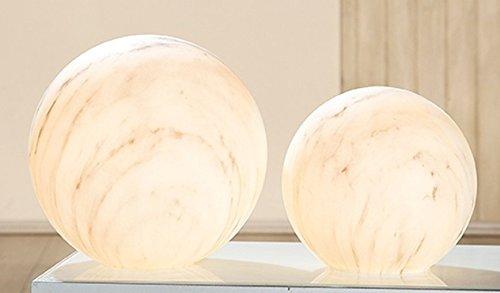 GILDE glazen bollamp Marbel marmereffect E 14 max 40W L = 25 x B = 25 x H = 24 cm