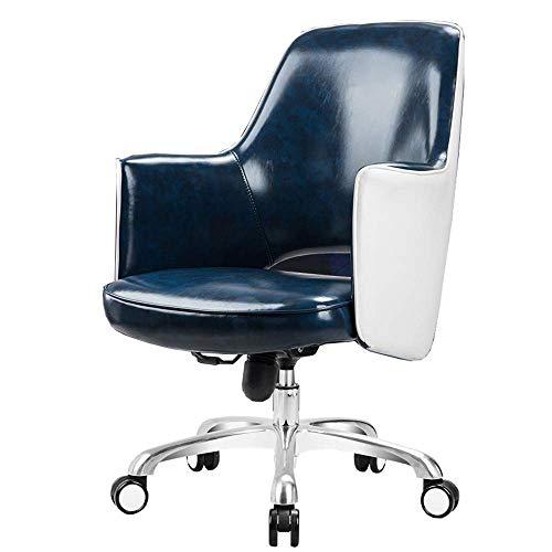 JIEER-C bureaustoel, bureaustoel, barkruk, modern design, comfortabel, ademend, U-vormig, gewicht lager 200 kg, meerkleurig Optioneel (kleur: blauw) Blauw