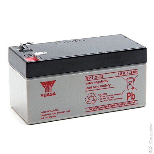 Yuasa - Batería Plomo AGM NP1.2-12 12V 1.2Ah F4.8