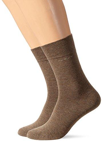 Camano Unisex-Erwachsene 3642 Socken, Braun (Caramel Mel. 0039), 43/46 (2er Pack)