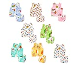 Material: Pc cotton inriched with high quality fiber which makes your baby feels comfortable(colors and designs may vary) Contains: 8 Baby cotton jhabla/vest & 8 baby single layer cotton thin nappies/langots,soft , comfortable and skin friendly Size:...