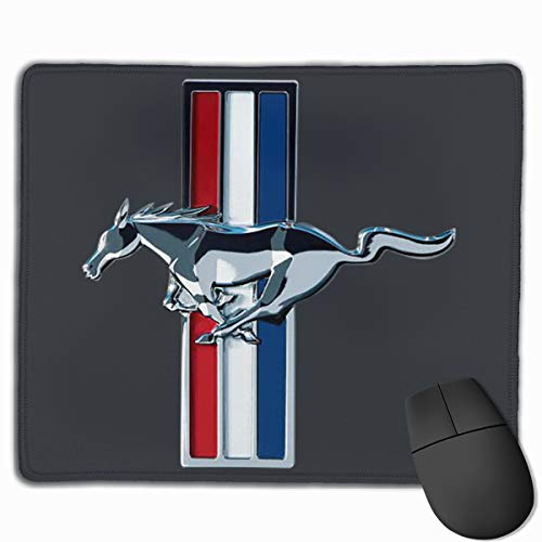 Runxin Fashion General Motors Mustang Logo The Mouse Pad for Mens White