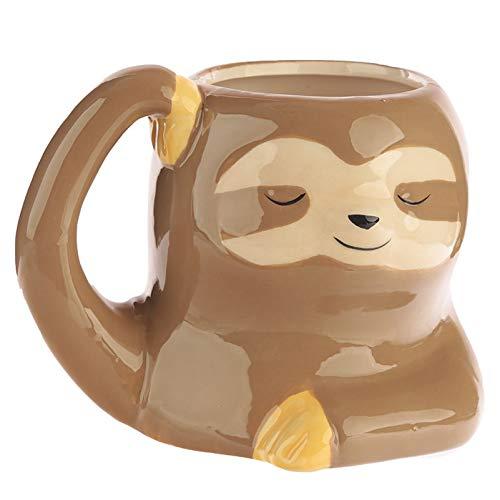 WHYX Tazas Café Vaso Termico Café,Taza De Perezoso De Dibujos Animados En 3D, Taza De Cerámica De Pareja Bonita con Mango para El Desayuno, Regalo para El Hogar Y El Hogar, Taza De Café