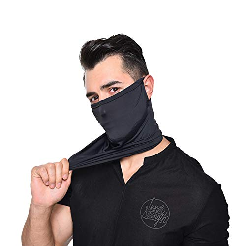 Face Shield Neck Gaiter Face Cover Mission Cooling Breathable Face Mask Face Scarf Mask-Dust Elastic Face Mask Headwear Balaclava Unisex Sun UV Protection Face Bandana Sun Protection Cool Lightweight