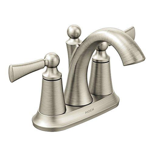Moen 4505BN Wynford Two-Handle Centerset High Arc Bathroom Faucet, Brushed Nickel
