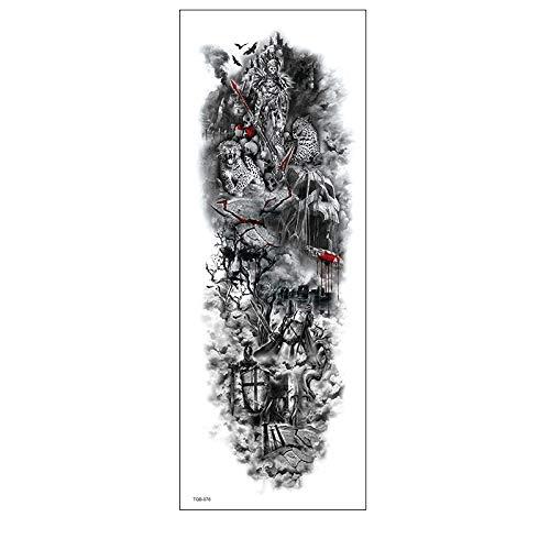 4Pcs 17X48CM Tatuaggi Temporanei Per Adulti Uomo Donne, Tatuaggio Temporaneo Adesivo Body Art, Ali Angelo Ragazza Lupo Animale Adesivi Tatuaggi Finti Impermeabili Per Braccio, Gamba E Viso