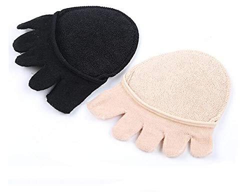 2 Paar Gel Zehensocken Halb Vorfuß Fußpads Gelkissen Relief, Rutschfest Erweiterbarkeit lindert Füße Schmerzlinderung für Frauen Atmungsaktiv Schuh-Pads Unsichtbare Socken