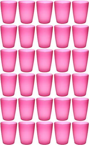 idea-station NEO Kunststoff-Becher 30 Stück, 250 ml, pink, mehrweg, bruchsicher, stapelbar, Party-Becher, Plastik-Becher, Mehrweg-Becher,...