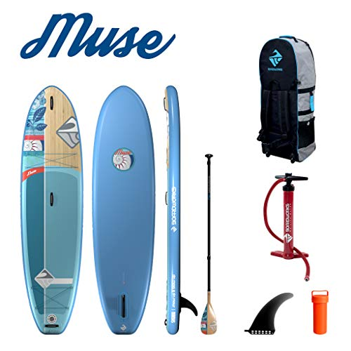 Boardworks SHUBU Muse Recreational Inflatable Stand-Up Paddle Board (iSUP) | SUP Package Includes Three Piece Paddle, Pump and Roller Bag (SUP) Complete Kit | 10'2""