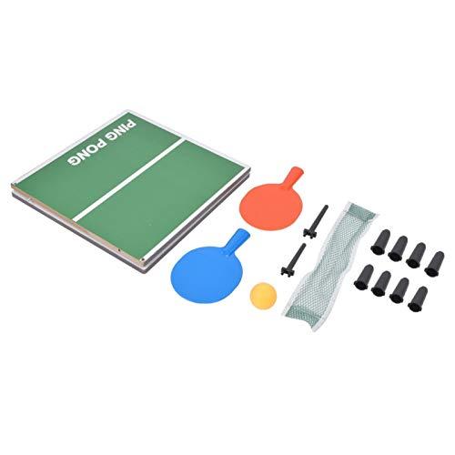 Jershal Mini Tenis de Mesa Mini Juego de Mesa de Tenis de Mesa para Interiores, Escritorio Plegable P-ing P-ong, Juguete de Entretenimiento para Padres e Hijos