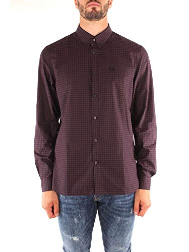 Fred Perry FP-M3524-27 Camicie Uomo Bordeaux L