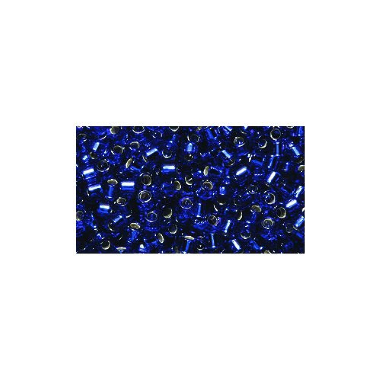 Miyuki Delica Seed Bead 10/0 DBM0047, Silverlined Cobalt, 9-Gram/Pack