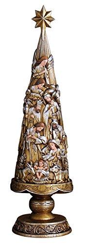Avalon galería metálico Belén árbol de Navidad figura decorativa