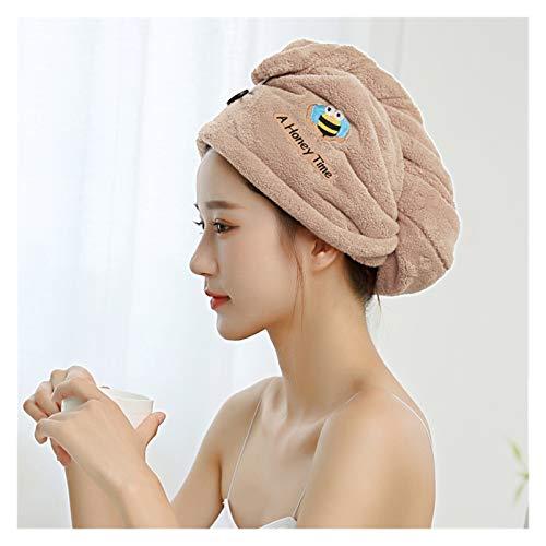 YSJJOSX Gorro de secado rápido, 65 x 25 cm, toalla de baño de microfibra de secado rápido, toalla de baño súper absorbente (color: caqui, tamaño: 25 x 65 cm)