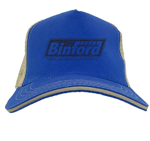 Binford Tools - TV Parody Funny Twill Soft Mesh Trucker Hat (Royal Blue/Khaki)