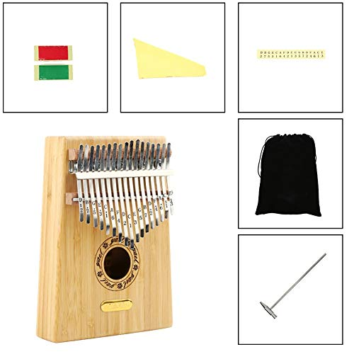 Kalimba, Daumenklavier 17 Keys Kalimba Daumenklavier exotischer Stil Bambus Musikinstrument leichte, tragbare Musik-Elemente for Anfänger