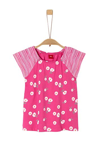s.Oliver Mädchen Shirt mit Carmenausschnitt pink AOP 116/122.REG