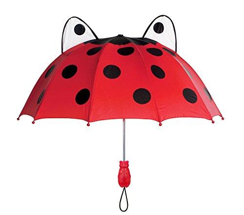 Kidorable Girls' Baby Ladybug Umbrella, Red