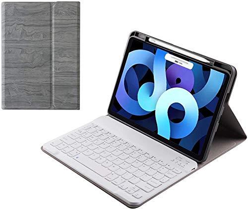 Funda para Teclado iPad Air 4 10.9 2020, Teclado Desmontable Inalámbrico con Portalápices [admite Carga Inalámbrica Pencil 2], Carcasa Trasera Blanda para iPad Air 4Th Generation 2020,Gray1