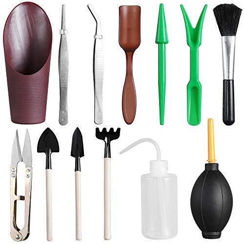 Mini juego de herramientas de jardín, herramienta de jardinería de plantación en miniatura Bonsai al aire libre kit de herramientas de trasplante suculento