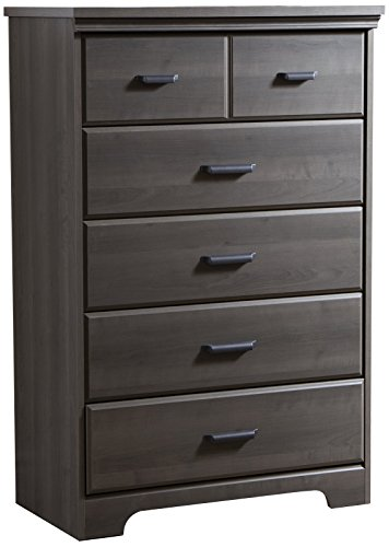 South Shore Versa Collection 5-Drawer Dresser, Gray Maple with Antique Handles