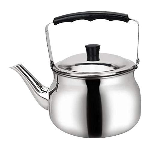 Baoblaze Tee Wasserkocher für Herd, Edelstahl Teekanne Herd Top Induktion Wasserkocher für Kochendem Heißer Wasser, Große Kapazität, isolierte Griff, Spiegel - 1,5 L