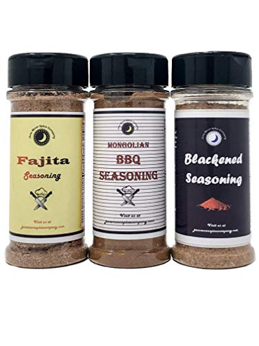 Premium | CHICKEN WING Seasoning | Large Shakers | Blackened | Fajita | Mongolian Garlic | Variety or Gift Pack | 3 count | Crafted in Small Batches with Farm Fresh Spices for Premium Flavor and Zest