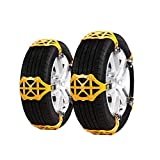 ErYao Truck Car Snow Chain Anti-Skid Tire Chain Winter Driving Security Chains Pick Up Patterned Tire Chains for Emergencies and Road Trip (Yellow)