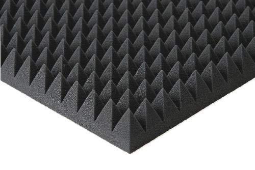 Pyramiden -Schaumstoff SELBSTKLEBEND- Flammhemend MVSS302 Schallschutz-Schaumstoff Noppenschaum (Mit Selbstklebend, ca. 100x100x5cm)