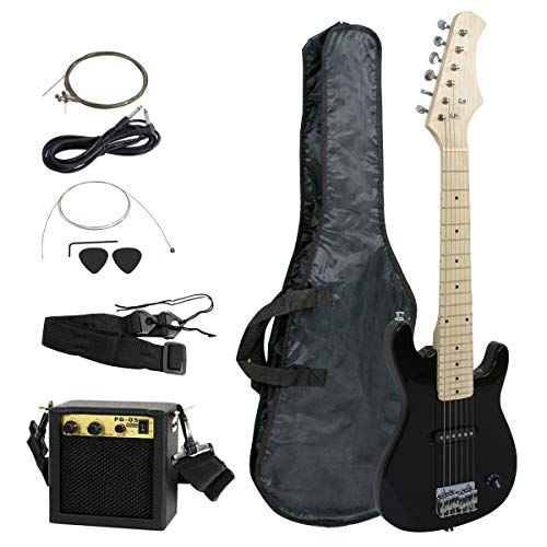 Smartxchoices 30' Kids Electric Guitar with 5W Amplifier,Picks, Gig Bag, Strap, Cable & Much More Guitar Combo Accessory Kit Holiday Gift