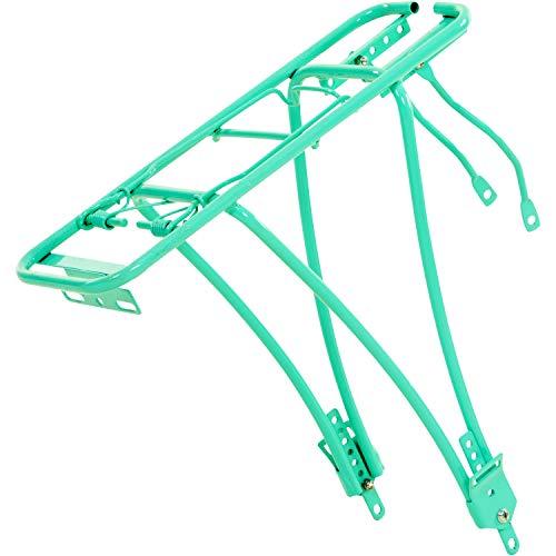 Galano Gepäckträger Fahrrad groß Federklappe verstellbar universal (türkis)