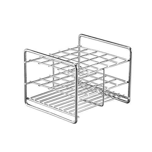 Tansoole - Reagenzglasgestell aus Edelstahl Reagenzglasständer Reagenzglashalter Labor-Gefäßständer 25-Loch, Gitteranordnung:5×5  15-25 , Φ14-16mm
