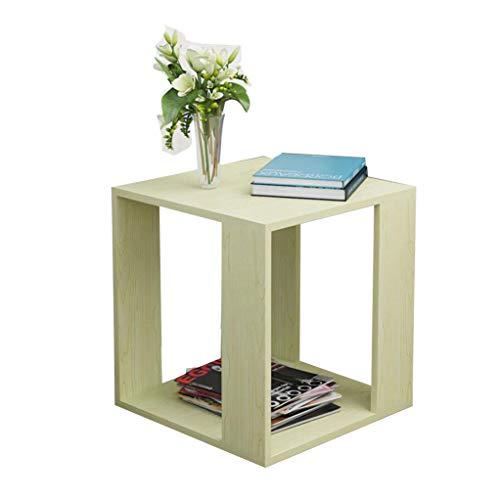 TLMY Mesa cuadrada pequeña de madera con extremo lateral moderno minimalista para sofá, café, sala de estar, portátil, mesa plegable de madera (color A, tamaño: 40 cm)