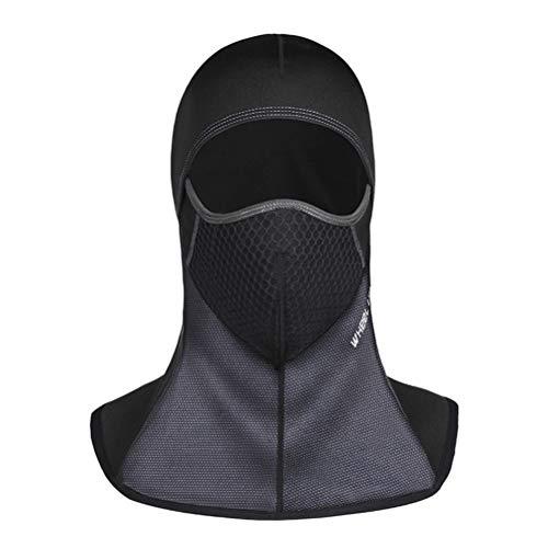 Kinnter Skimasker, warm gezichtsmasker, motormasker, volgelaatsmasker, motorfiets en fiets, warm uniseks en universele maat, voor buiten, 1 stuks