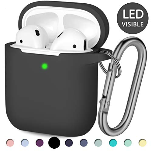 Hamile Apple Airpods Case, (Front LED Visible) Silicone Case...