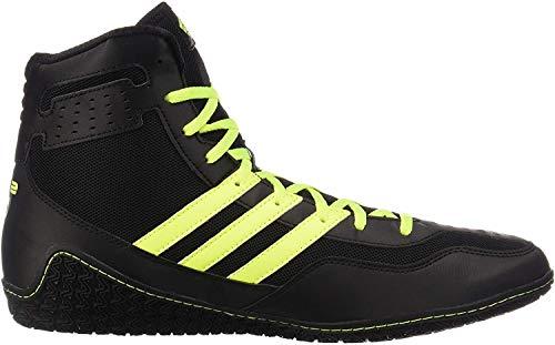 adidas Mat Wizard Black/Solar Yellow Wrestling Shoes 12