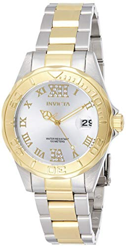 Invicta 12852 Pro Diver Reloj para Mujer acero inoxidable Cuarzo Esfer