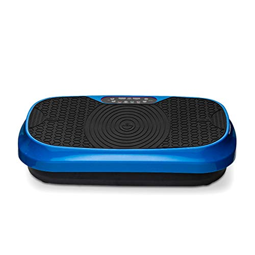 LifePro Waver Mini Vibration Plate - Whole Body Vibration Platform Exercise Machine - Home & Travel Workout Equipment for Weight Loss, Toning & Wellness - Max User Weight 260lbs (Blue) from LifePro