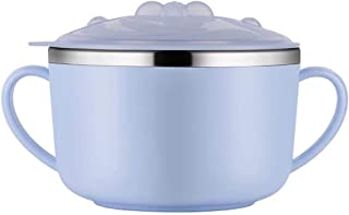 Lunch Box for Kids, Noodles Bowl Lid, Bento-boxes Ramen Cup Containers Stainless Steel Boys Children's meal Small 390ml